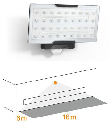 XLED PRO Wide Sensor-LED-Strahler